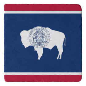Wyoming flag, American state flag Trivets