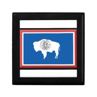 Wyoming Flag Trinket Box