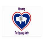 Wyoming Flag Heart Postcard