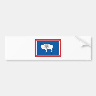 Wyoming FLAG International Bumper Sticker