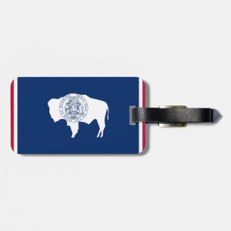 Wyoming Flag Luggage Tag