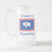 Wyoming Flag Map City Mug