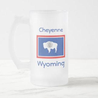 Wyoming Flag Map City Mug