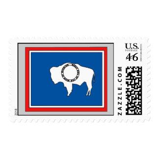 Wyoming Flag Map Postage