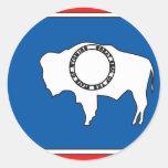 Wyoming Flag Map Sticker
