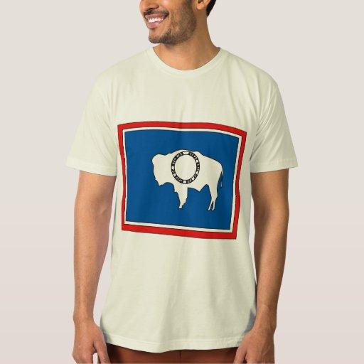 Wyoming Flag Map Tee Shirt