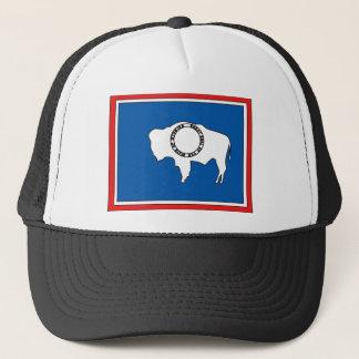 Wyoming Flag Map Trucker Hat