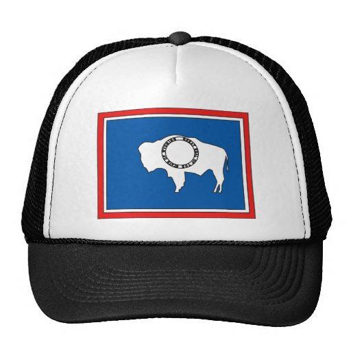 Wyoming Flag Map Trucker Hat