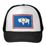 Wyoming Flag Map Trucker Hats