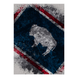 Wyoming Flag Poster