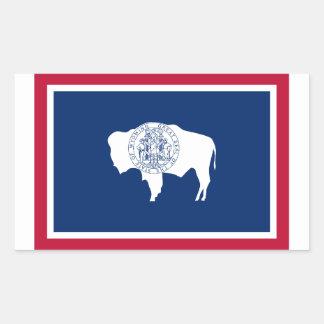 Wyoming Flag Rectangular Sticker