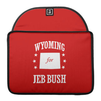 WYOMING FOR JEB BUSH SLEEVES FOR MacBook PRO