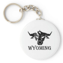 Wyoming for Men Women and Kids Keychain