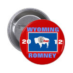 Wyoming for Romney 2012 Buttons