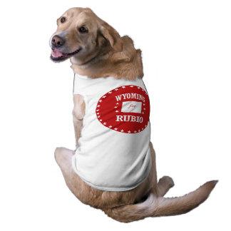 WYOMING FOR RUBIO DOG T-SHIRT