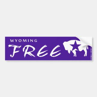 Wyoming Free Iconic Bison Bumper Sticker