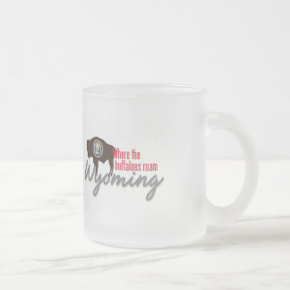 WYOMING FROSTED GLASS COFFEE MUG