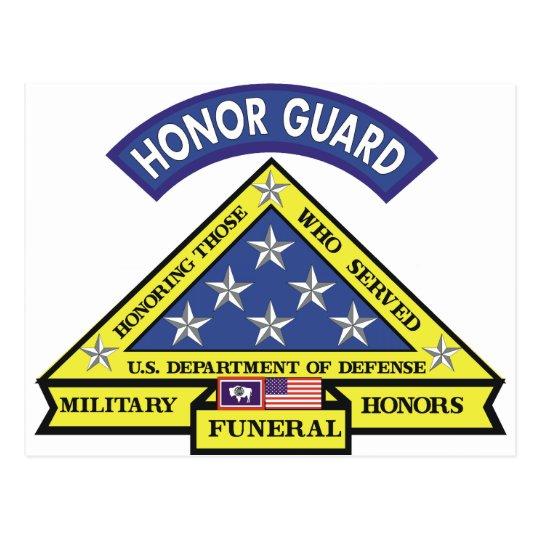 Wyoming Funeral Honors Team Postcard