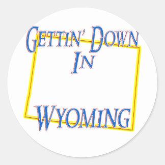 Wyoming - Gettin' Down Classic Round Sticker