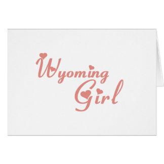 Wyoming Girl tee shirts Greeting Card