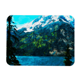 Wyoming Grand Teton Mountains Abstract Magnet