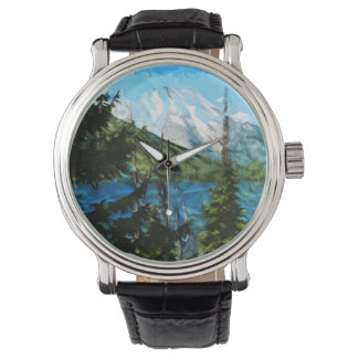 Wyoming Grand Teton Mountains Abstract Watch