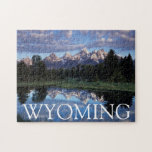 "Wyoming, Grand Teton National Park 4 Jigsaw Puzzle<br><div class=""desc"">Wyoming,  Grand Teton National Park,  Rocky Mountains,  The Grand Tetons and clouds reflecting in the Snake River. 