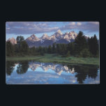 "Wyoming, Grand Teton National Park 4 Placemat<br><div class=""desc"">Wyoming,  Grand Teton National Park,  Rocky Mountains,  The Grand Tetons and clouds reflecting in the Snake River. 