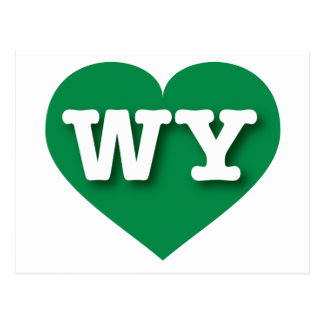 Wyoming Green Heart - Big Love Postcard