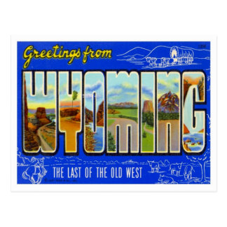 Wyoming Greetings From US States Postcard