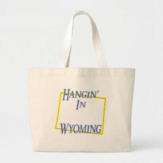 Wyoming - Hangin' Large Tote Bag