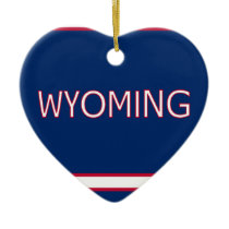 Wyoming Heart Ornament