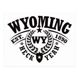 Wyoming, Heck Yeah, Est. 1890 Postcard