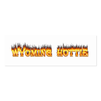 Wyoming hottie fire and flames business card templates