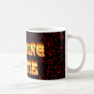 Wyoming hottie fire and flames design red classic white coffee mug