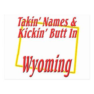 Wyoming - Kickin' Butt Postcard