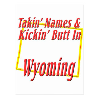 Wyoming - Kickin' Butt Postcard