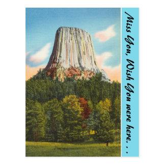 Wyoming, la torre del diablo postal