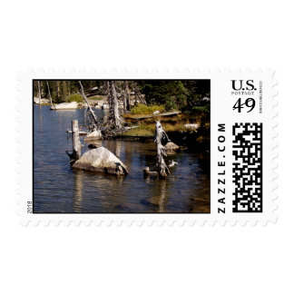 Wyoming Lake Postage Stamps
