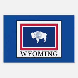 Wyoming Lawn Sign