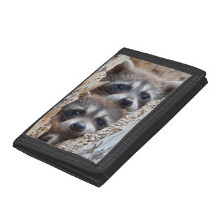 Wyoming, Lincoln County, Raccoon Tri-fold Wallet