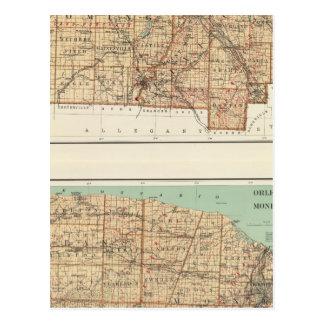 Wyoming, Livingston, Orleans, Genesee Postcard