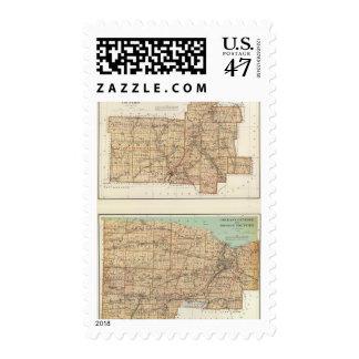 Wyoming, Livingston, Orleans, Genesee Stamp