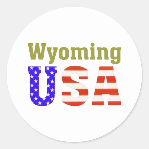 ¡Wyoming los E.E.U.U.! Pegatina Redonda