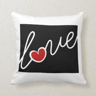 Wyoming Love!  Gifts for WY Lovers Throw Pillows