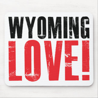 Wyoming Love Mouse Pad