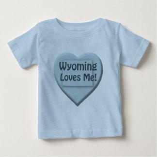 Wyoming Loves Me Heart Blue Infant Boy T-shirt
