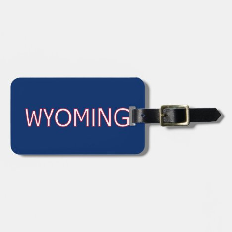 Wyoming Luggage Tag