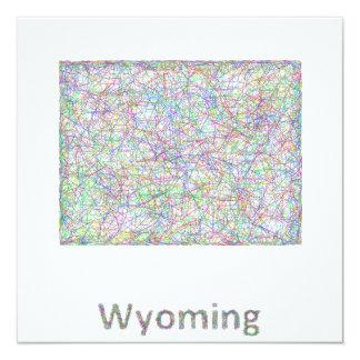Wyoming map card