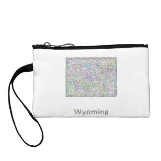 Wyoming map change purse